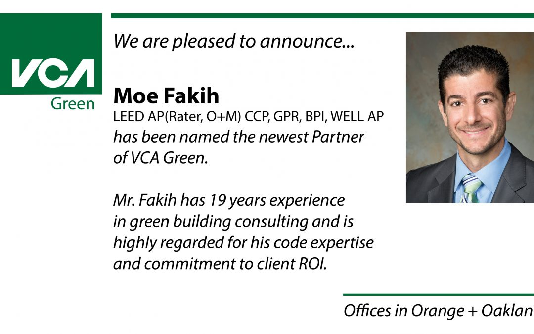 Moe Fakih Named Principal at VCA Green