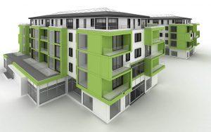 vca green eco apartment building