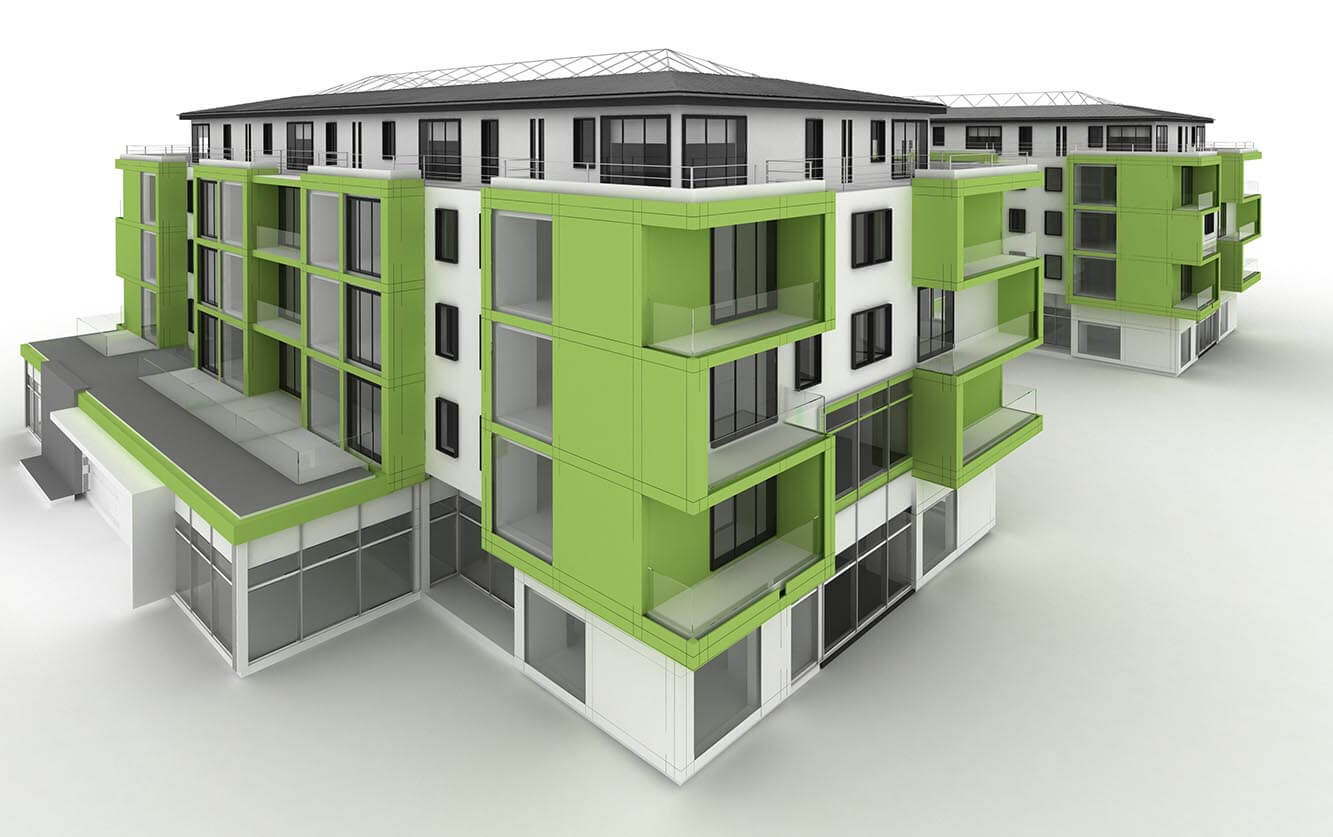 vca green eco apartment building